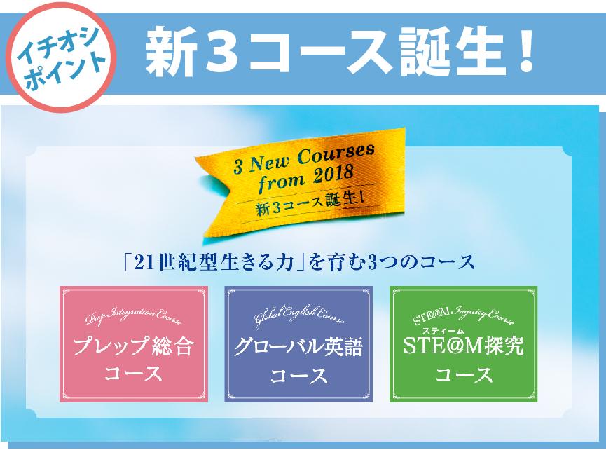 ノートルダム女学院高校 新3コース誕生!